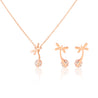 Addic Dazzling Dragon Fly Bling Gold Pendants & Earrings Set for Girls and Women.