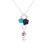 Addic Bold & Beautiful Silver Elegant Pendant & Earrings Set for Girls and Women.