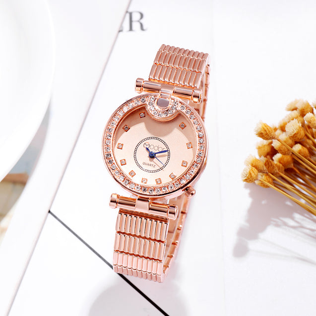 Modor Modern Classy Rose Gold Formal / Casual / Party Wear Multi Purpose Wrist Watch For Women & Girls