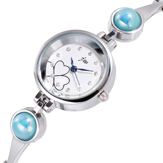 Addic Patakha In Blue Crystals Silver Watch For Women & Girls.