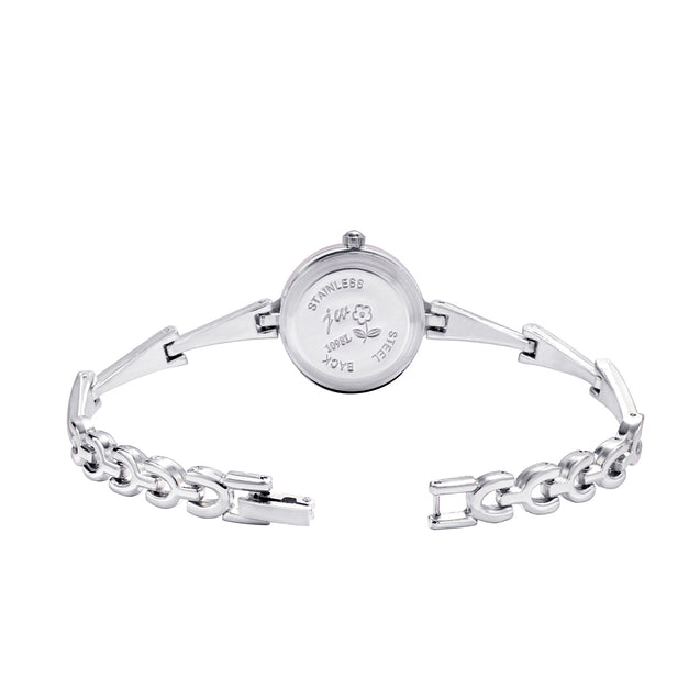 Addic Classic Charm Minimal Silver Watch For Women & Girls.