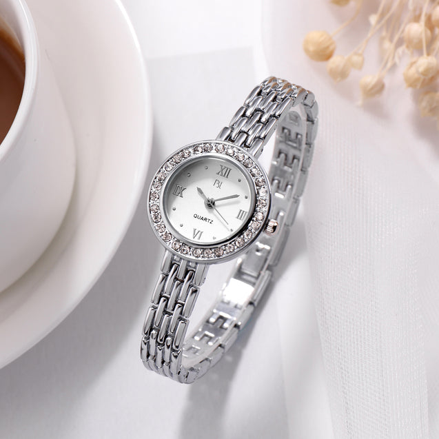 Addic BL Minimalist Classy Silver Formal / Casual / Party Wear Multi Purpose Watch For Women & Girls.