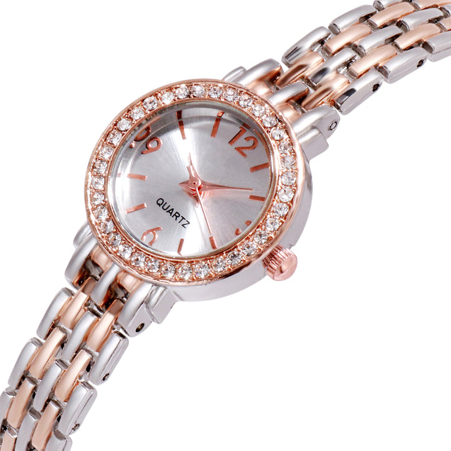 Addic BL Bling Lifestyle Elegant Dual Tone Wrist Watch For Women & Girls.