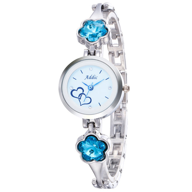 Addic Mermaid-Blossoms Silver Girls & Women's Watch.