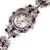 French Loops Black Stone Jewel Studded Ethnic Party Wear Bracelet Watch