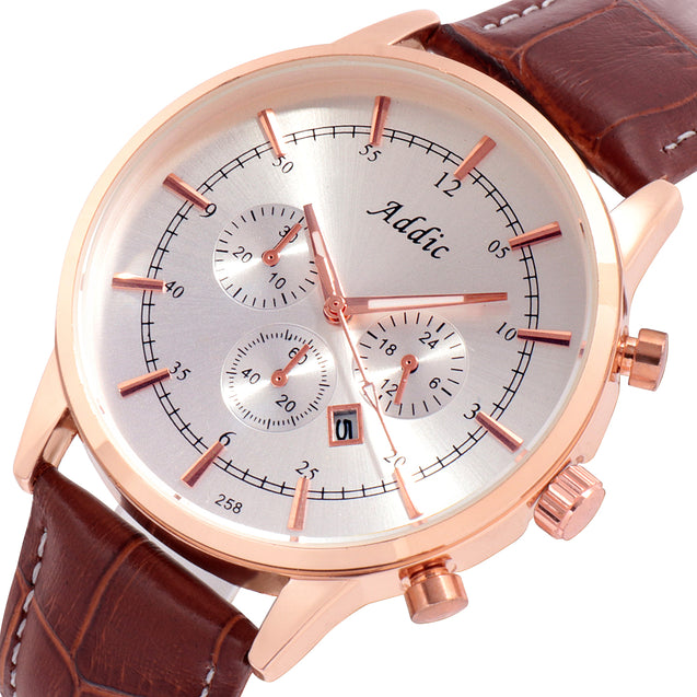 Addic Sophisticated Charming Shades of Brown Watch for Men's & Boys.