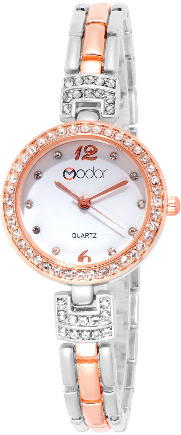 Modor Chunks Of Charm Dual Color Wrist Watch For Women & Girls