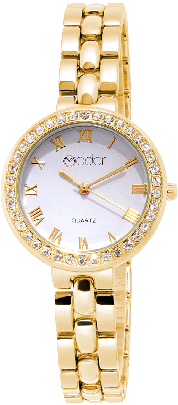 Modor Modern Hues Gold Wrist Watch For Women & Girls