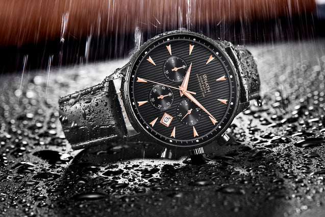Wrath Business Is A Sport Black Luxury Chronograph Watch For Men.