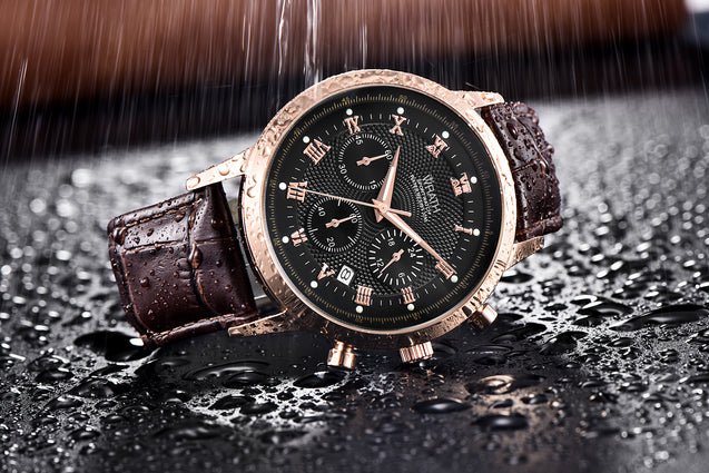 Wrath Classique Royale Rose Gold Chronograph Luxury Watch For Men.