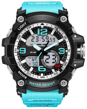 Digilog Calm Aqua Multi-Function Analog Digital Dual Time Watch For Men & Boys