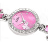 Addic Delicate Petals Pink Stone Studded Girls & Women's Watch.