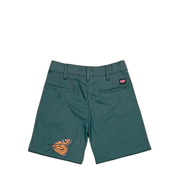 Butterfly Work Shorts <br><i>Evergreen</i>