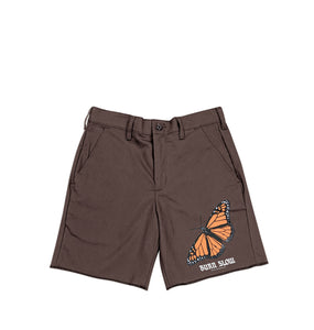 Butterfly Work Shorts <br><i>Brown</i>