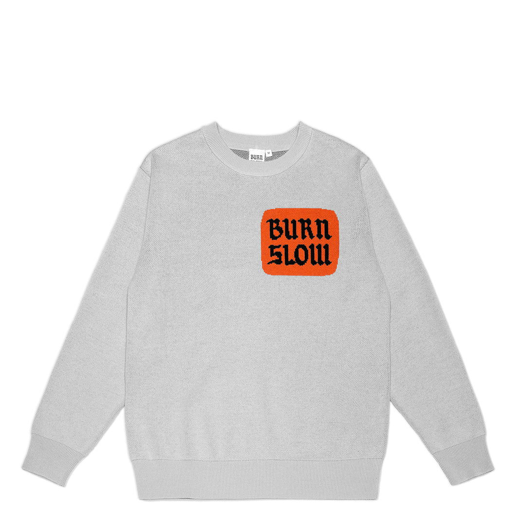 Corp Logo Knit Sweater <br><i>Light Grey</i>