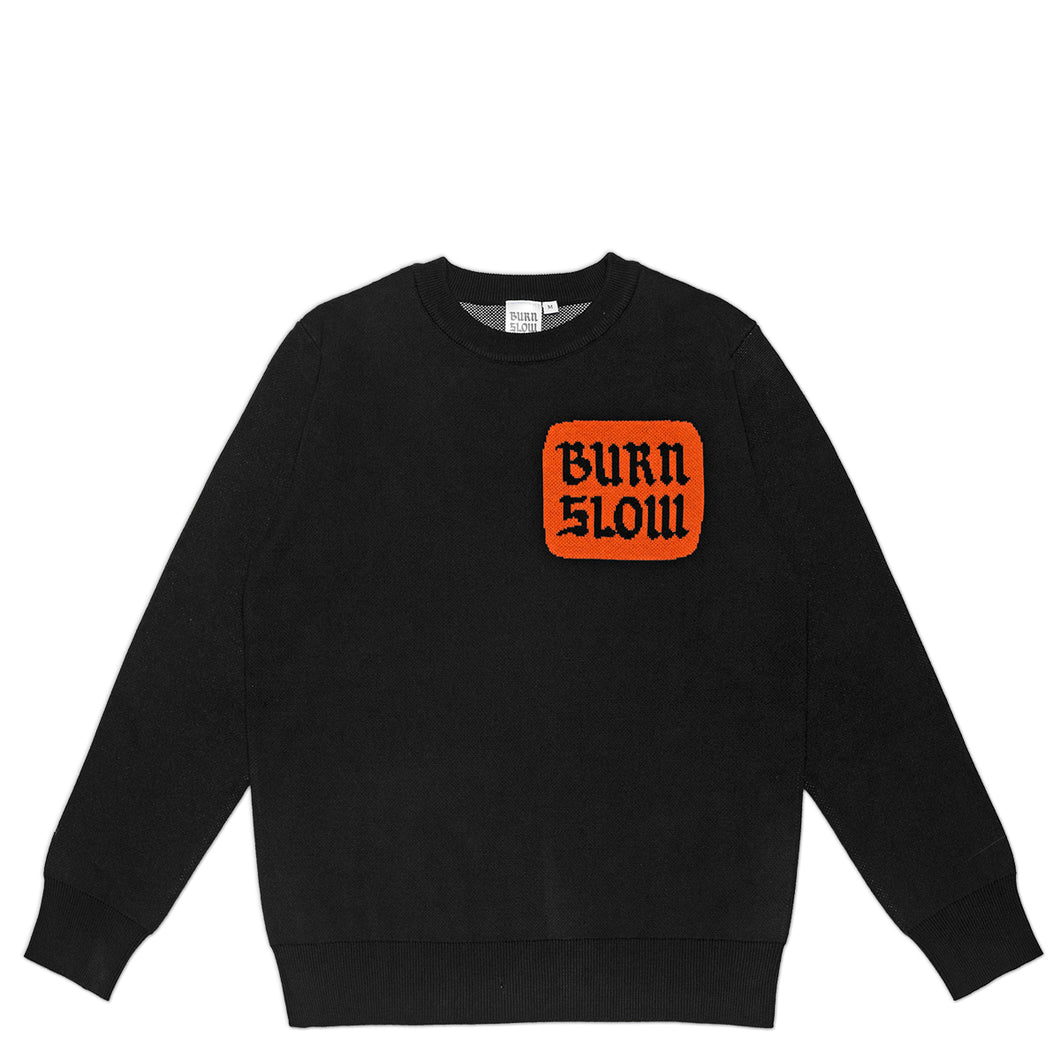 Corp Logo Knit Sweater <br><i>Black</i>