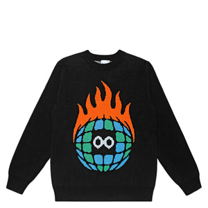 Globe Logo Knit Sweater <br><i>Black</i>