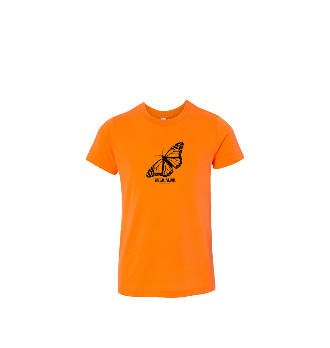 Butterfly Youth T-shirt <br><i>Neon Orange</i>