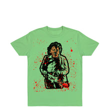 Load image into Gallery viewer, Pleather Head T-Shirt <br><i>Green Apple</i>