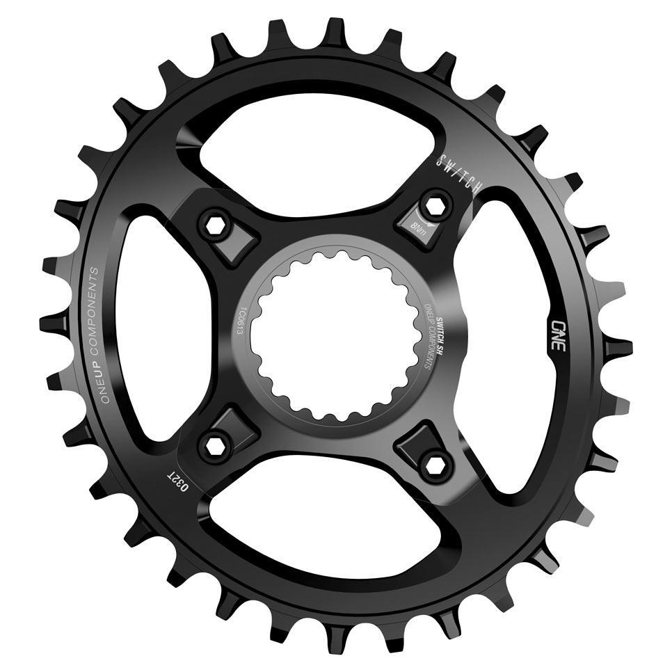 OneUp-Components-Switch-V2-Chainring-32T-Oval-Shimano-12-Speed-Black-Front-966