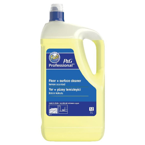 Flash Multi Surface and Floor Cleaner Lemon 5 Litre 5413149200111 (PACK OF 2)
