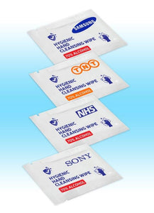 Alcohol Cleansing Wipe (1 colour personalised print) from £0.32 each