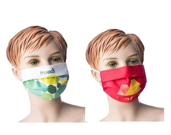 Microfibre 205gsm Medical-Style Community Face Mask (full colour sublimation printed) from £1.50 each