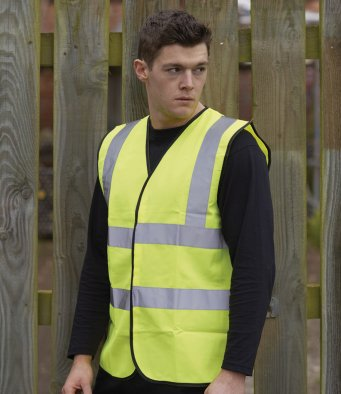 Warrior Hi-Vis Fluorescent Waistcoat from £3.55 each (pack of 6)