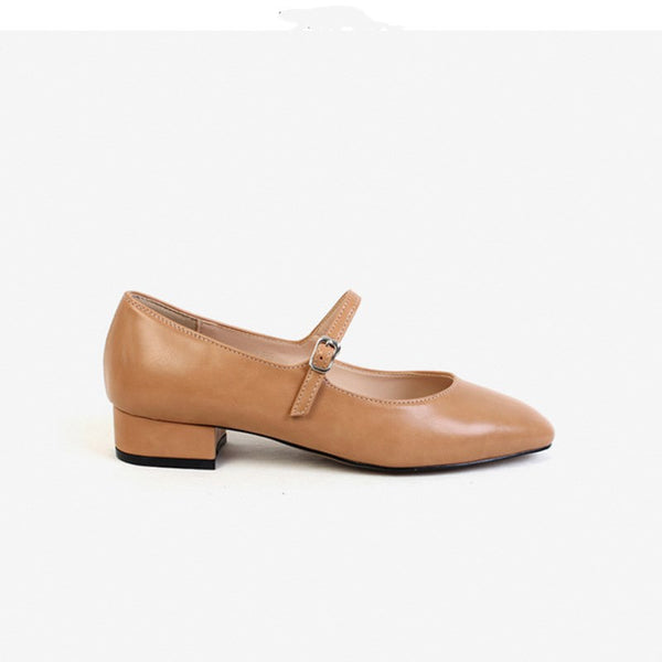 Flat-bottomed granny shoes nurse shoes