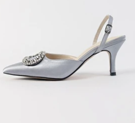 Sandal stiletto pointed 8cm high heels