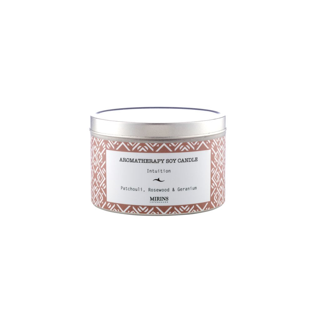SOY CANDLE - INTUITION - PATCHOULI, ROSEWOOD & GERANIUM
