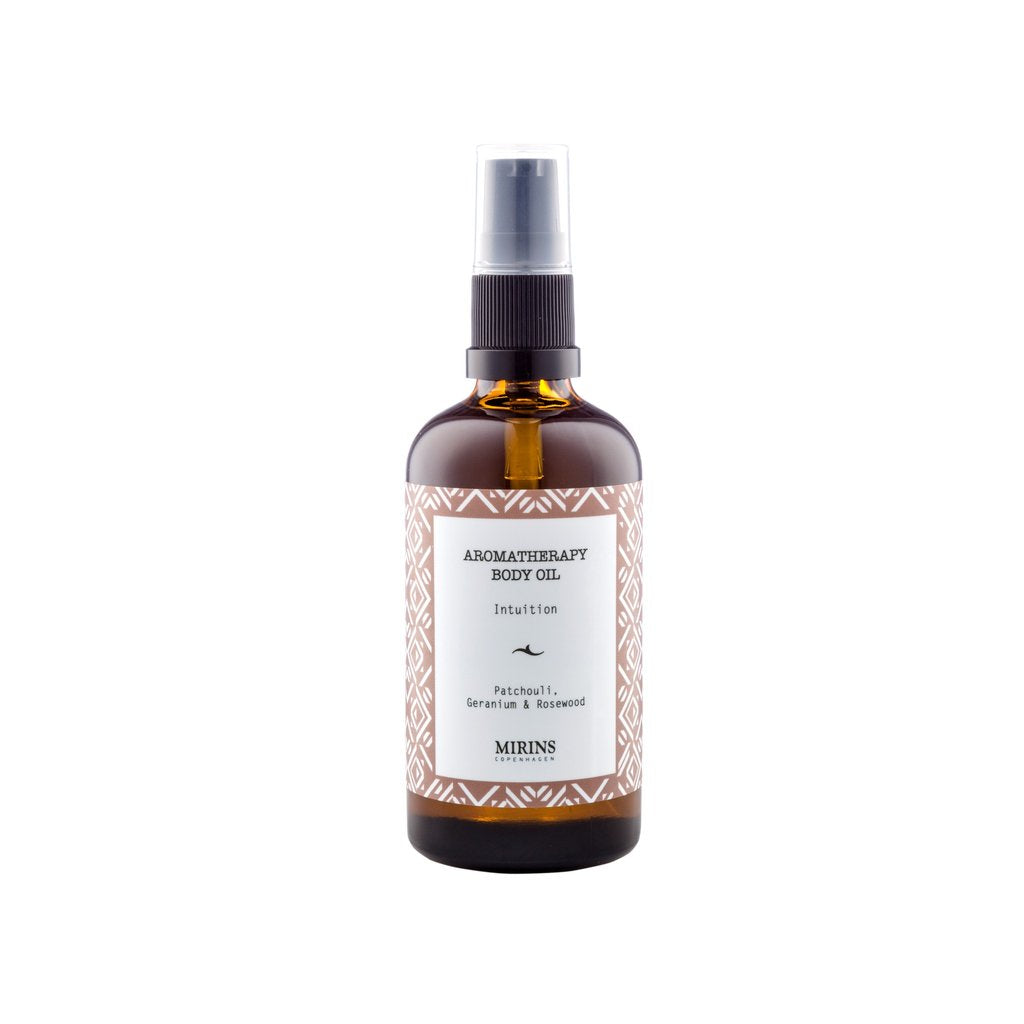 BODY OIL - INTUITION - PATCHOULI, ROSEWOOD & GERANIUM