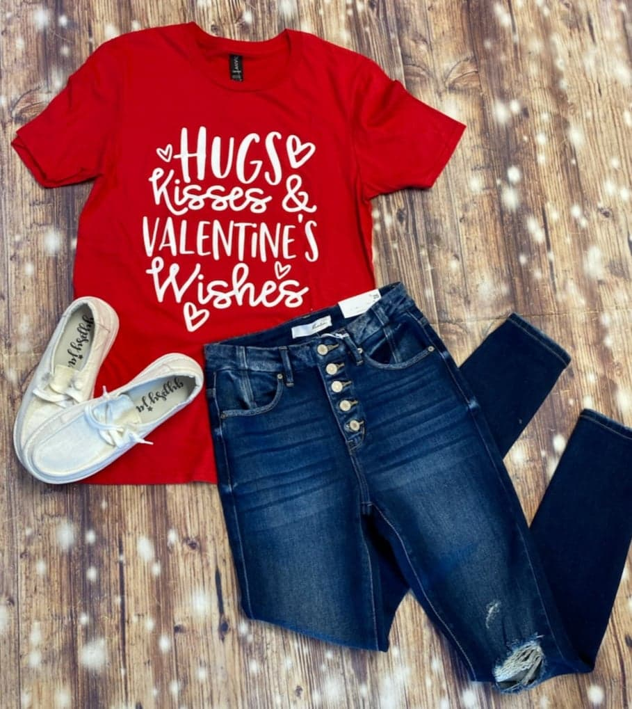 Hugs, Kisses, Valentine's Day Wishes Tee