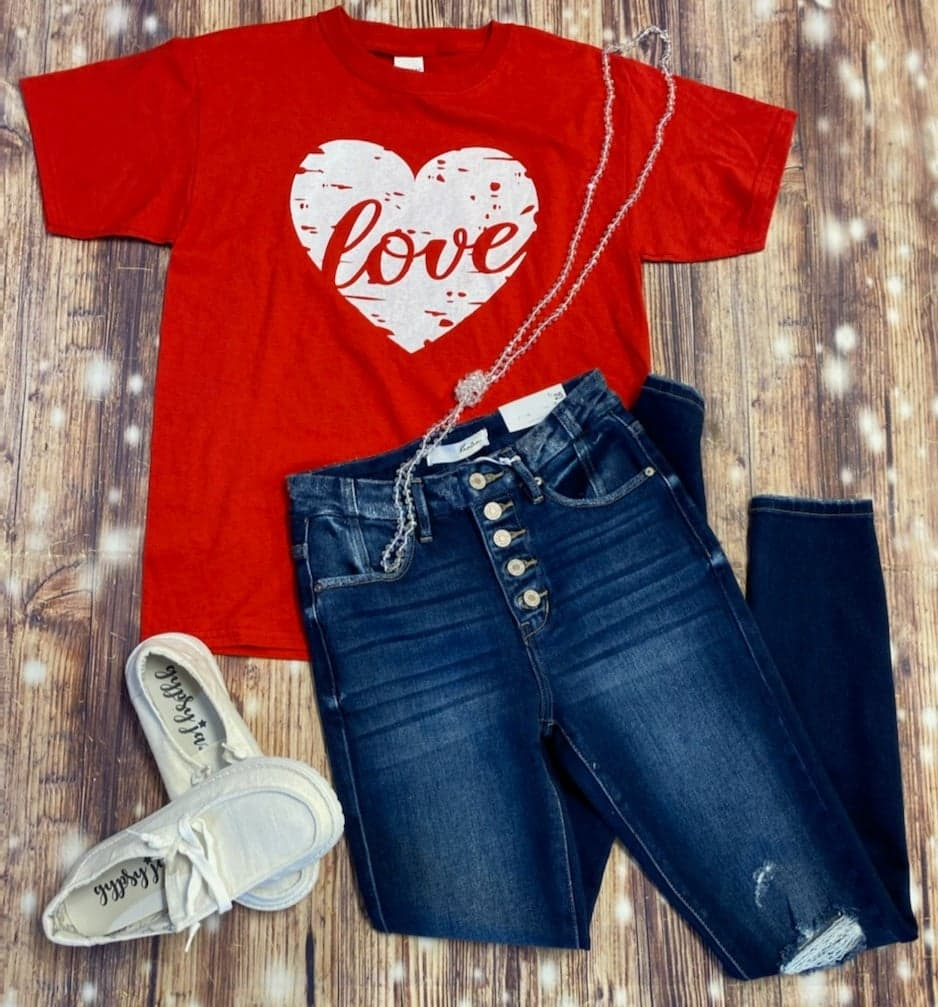 Heart Full of Love Valentine's Tee