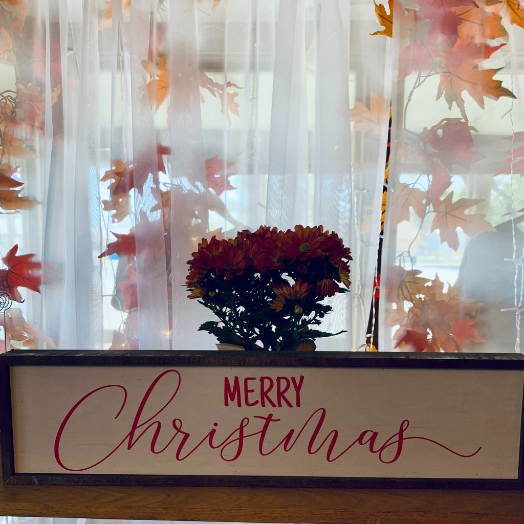 MERRY CHRISTMAS- 24X6 SIGN