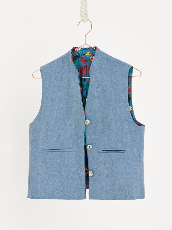 Sugar paper carry over short vest