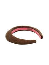 Kate Padded Headband - Brown e Bronze Lurex