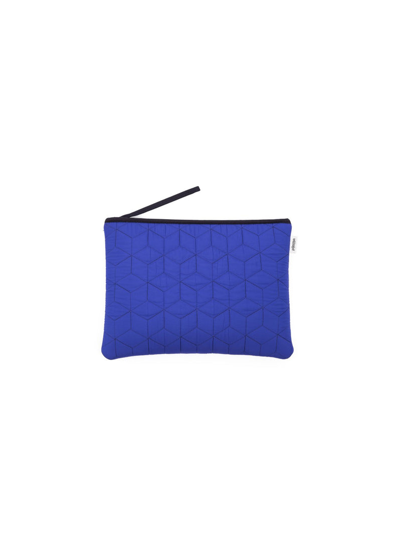 POCHETTE LARGE QUILTED BLUE