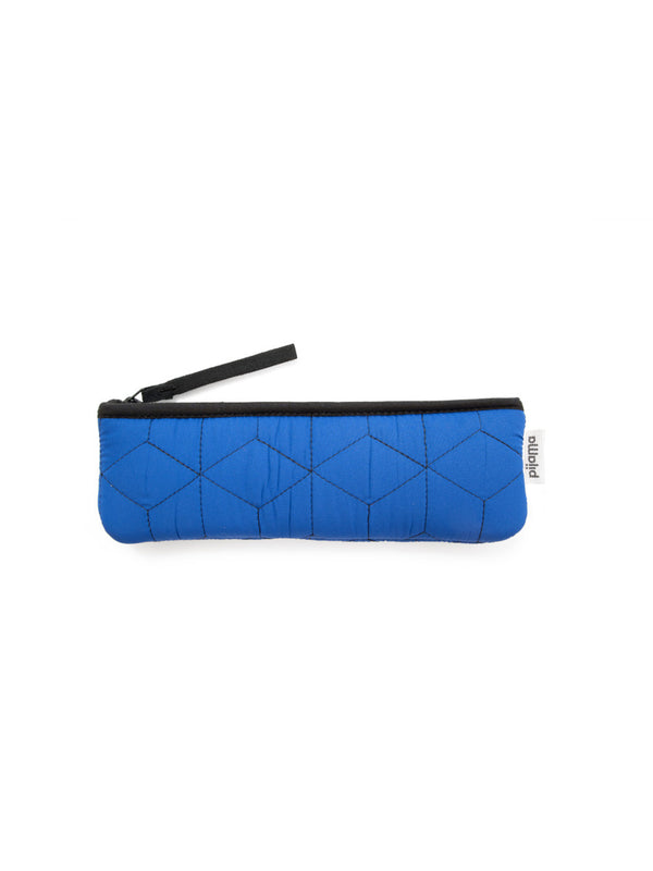 ASTUCCIO PORTAPENNE QUILTED BLUE