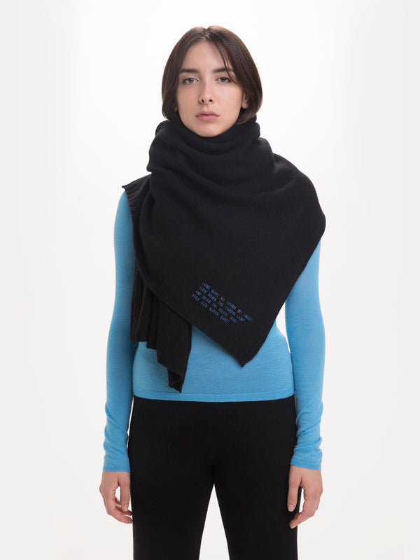 SCARF PITCH BLACK