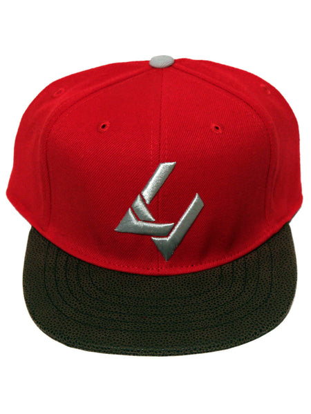 Bespoke x LV Pro Red/Brown Faux Leather Brim Strapback