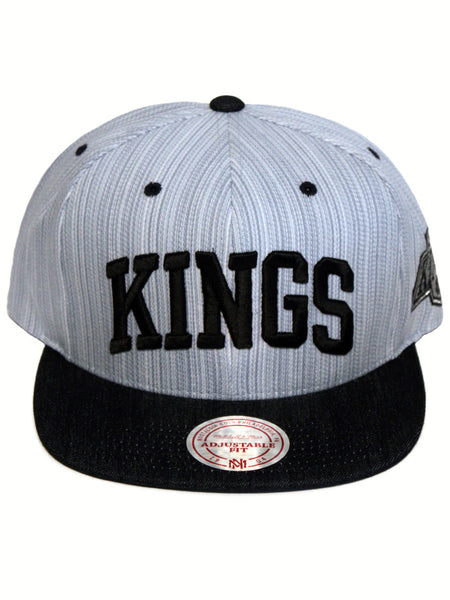 Los Angeles Kings Striped Denim Arch 2-Tone Snapback