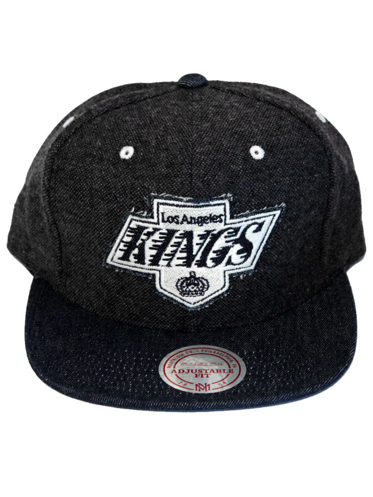 Los Angeles Kings Tweed Crown Denim Visor Strapback