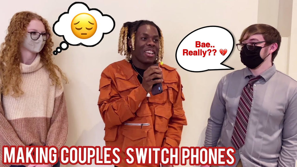 Making Couples Switch Phones Loyalty Test 4 💔 Public Interview