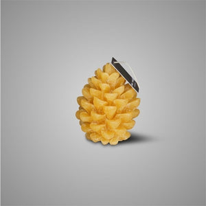 CANDLE PINE CONE HONEY YELLOW S D.8 H.11