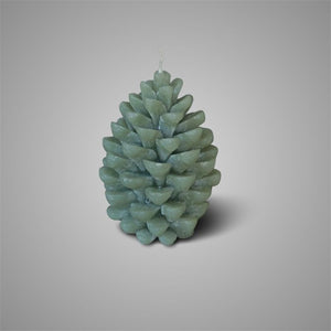 CANDLE PINE CONE SAGE GREEN L D.11 H.16