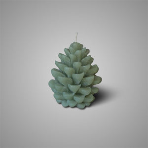 CANDLE PINE CONE SAGE GREEN S D.8 H.11