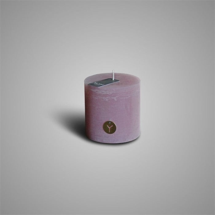 RUSTIC CANDLE OLD PINK D.10 H.10