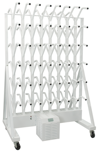 portable fourty eight pair boot dryer on wheels