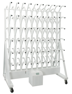 portable sixty pair boot dryer on wheels